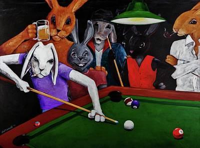 Rabbit Games Art Print by Jason Reinhardt