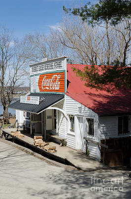 Photograph - Rabbit Hash Store-front View Angle by Mary Carol Story