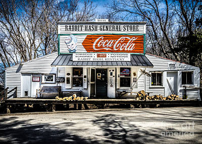 Photograph - Rabbit Hash Store-front View by Mary Carol Story