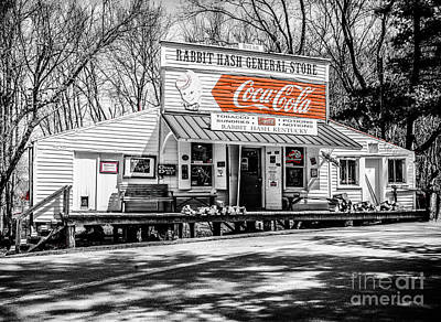 Photograph - Rabbit Hash Store-front View Sc by Mary Carol Story