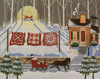 Quilts Painting - Rabbit Hill by Mary Charles