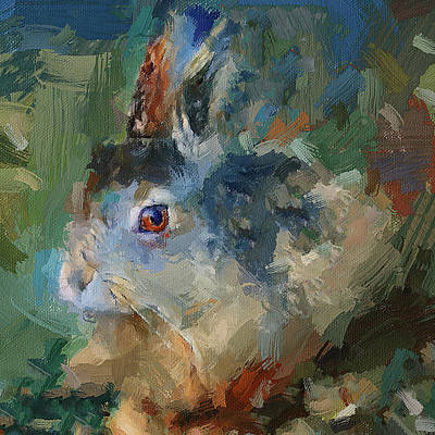 Digital Art - Rabbit Impression by Yury Malkov