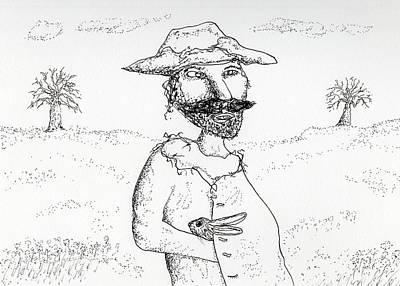 Drawing - Rabbit Man by Jim Taylor