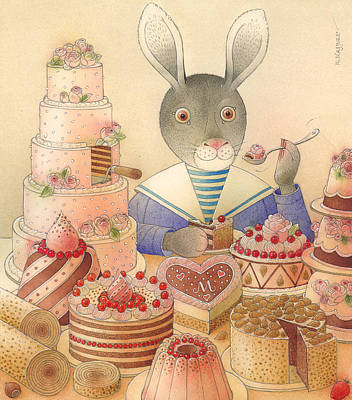 Painting - Rabbit Marcus The Great 01 by Kestutis Kasparavicius
