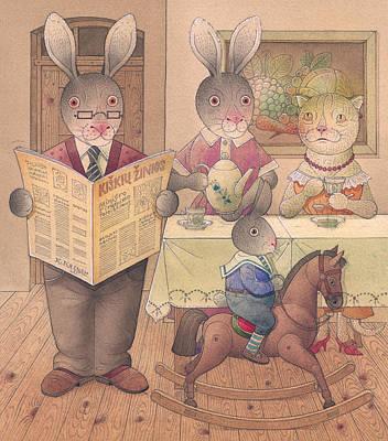 Painting - Rabbit Marcus The Great 09 by Kestutis Kasparavicius