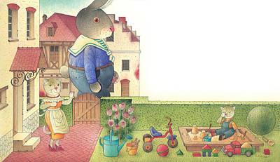 Painting - Rabbit Marcus The Great 17 by Kestutis Kasparavicius