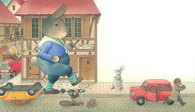Painting - Rabbit Marcus The Great 19 by Kestutis Kasparavicius