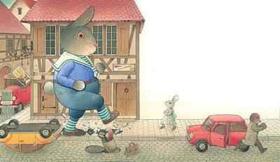 Painting - Rabbit Marcus The Great 19 by Kestutis Kasparavicius