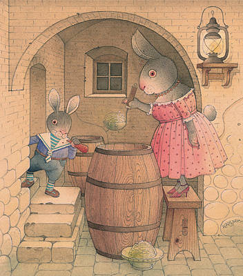 Painting - Rabbit Marcus The Great 20 by Kestutis Kasparavicius