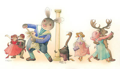 Painting - Rabbit Marcus The Great 24 by Kestutis Kasparavicius