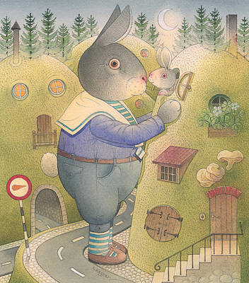 Painting - Rabbit Marcus The Great 25 by Kestutis Kasparavicius