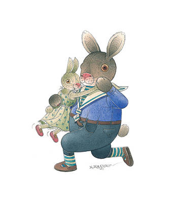 Painting - Rabbit Marcus The Great 28 by Kestutis Kasparavicius