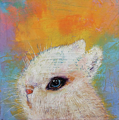 White Rabbit Painting - Rabbit by Michael Creese