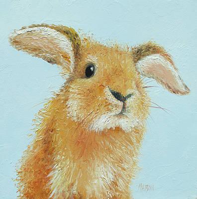 Painting - Rabbit Painting - Thomas by Jan Matson