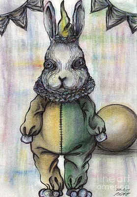 Rabbit Pierrot Art Print