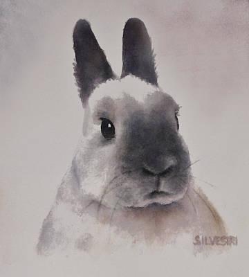 Watercolor Pet Portraits Painting - Rabbit Portrait by Teresa Silvestri