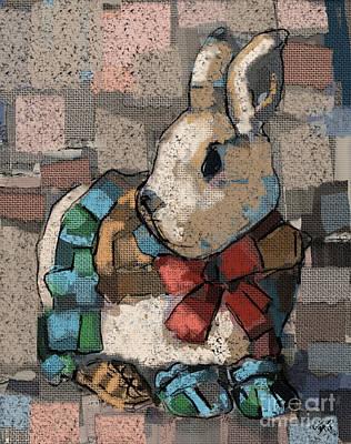 Painting - Rabbit Socks by Carrie Joy Byrnes