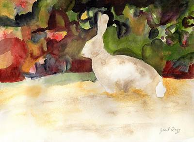 Painting - Rabbit We Saw On Our Walk by Janel Bragg