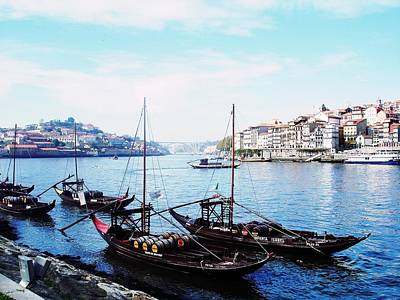 Photograph - Rabelo Boats On River Douro In Porto 01 by Dora Hathazi Mendes