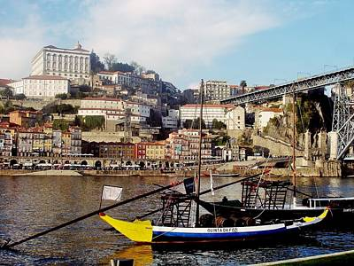 Photograph - Rabelo Boats On River Douro In Porto 02 by Dora Hathazi Mendes