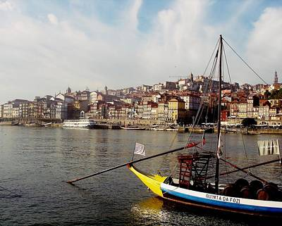 Photograph - Rabelo Boats On River Douro In Porto 03 by Dora Hathazi Mendes