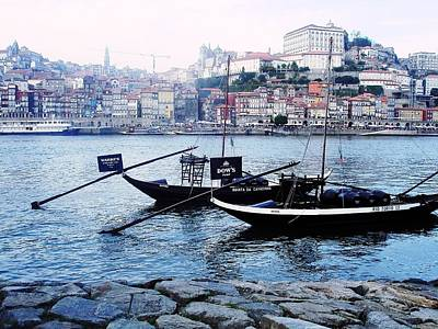 Photograph - Rabelo Boats On River Douro In Porto 04 by Dora Hathazi Mendes