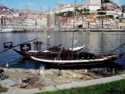 Photograph - Rabelo Boats On River Douro In Porto 05 by Dora Hathazi Mendes
