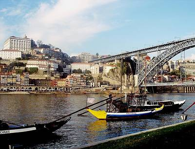 Photograph - Rabelo Boats On River Douro In Porto 07 by Dora Hathazi Mendes