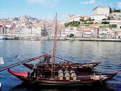 Photograph - Rabelo Boats On River Douro In Porto 09 by Dora Hathazi Mendes