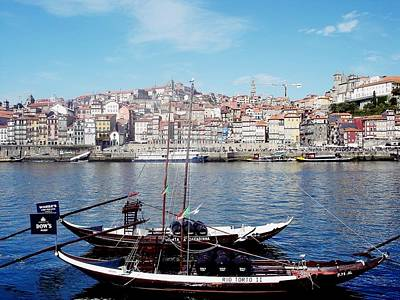Photograph - Rabelo Boats On River Douro In Porto 10 by Dora Hathazi Mendes
