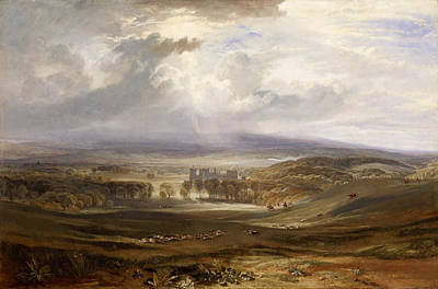 Chateau Painting - Raby Castle, Residence Of The Earl Of Darlington by JMW Turner