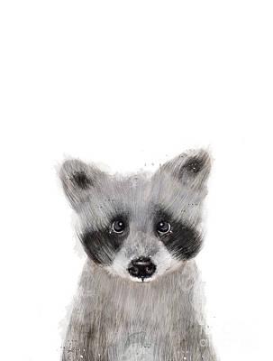 Painting - Raccoon by Bleu Bri