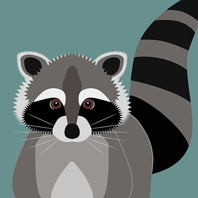 Raccoon Digital Art - Raccoon Forest Bandit by Antique Images