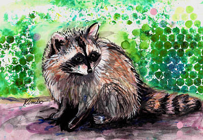Painting - Raccoon  by Kimbo Jackson