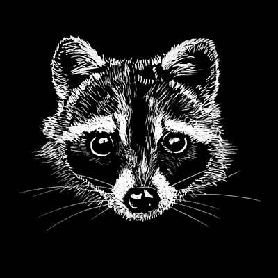 Messy Drawing - Raccoon by Masha Batkova