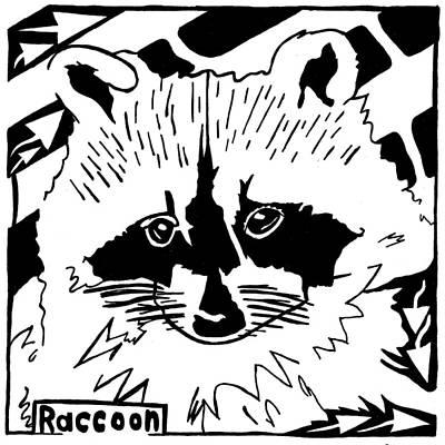 Raccoon Mixed Media - Raccoon Maze by Yonatan Frimer Maze Artist