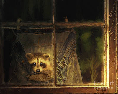 Digital Art - Raccoon Pants by Tim Wemple