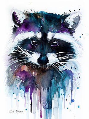 Raccoon Mixed Media - Raccoon by Slavi Aladjova
