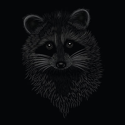 Digital Art - Raccoon Spirit Animal by Serena King