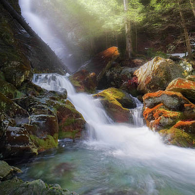 Photograph - Race Brook Falls 2017 Square by Bill Wakeley