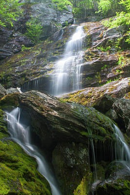 Photograph - Race Brook Falls Applachian Trail Berkshires by John Burk