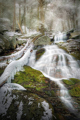 Photograph - Race Brook Falls Ice by Bill Wakeley