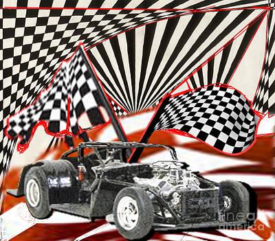 Painting - Racey by Belinda Threeths