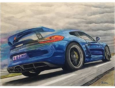Racecar Drawing - Race Car by Richard Rutherford