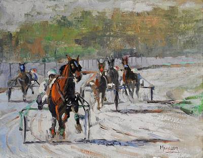 Wayne County Painting - Race Day by Spencer Meagher