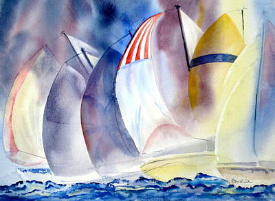 Painting - Race For The Mark by Diane Kirk