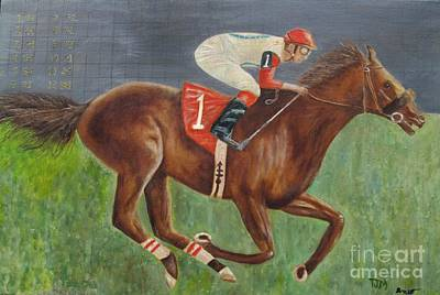 Horse Race Painting - Race Horse Big Brown by Anthony Morretta