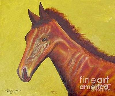 Horse Race Painting - Race Horse Portrait - American Pharoah by Anthony Morretta