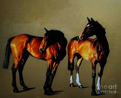 Race Horses Art Print by Celestial Images