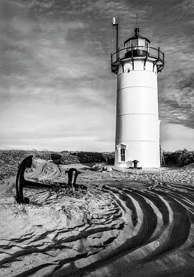 Marine Photograph - Race Point Light Provincetown Ma Bw by Susan Candelario